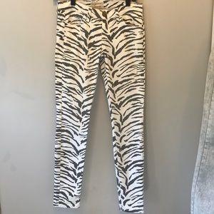 "Current /Elliott""The skinny jeans. Vintage zebra."